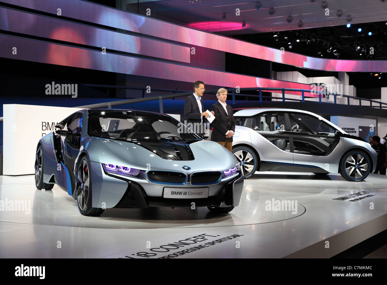 BMW electric concept cars i8 and i3 at the 64th IAA (Internationale Automobil Ausstellung) Stock Photo