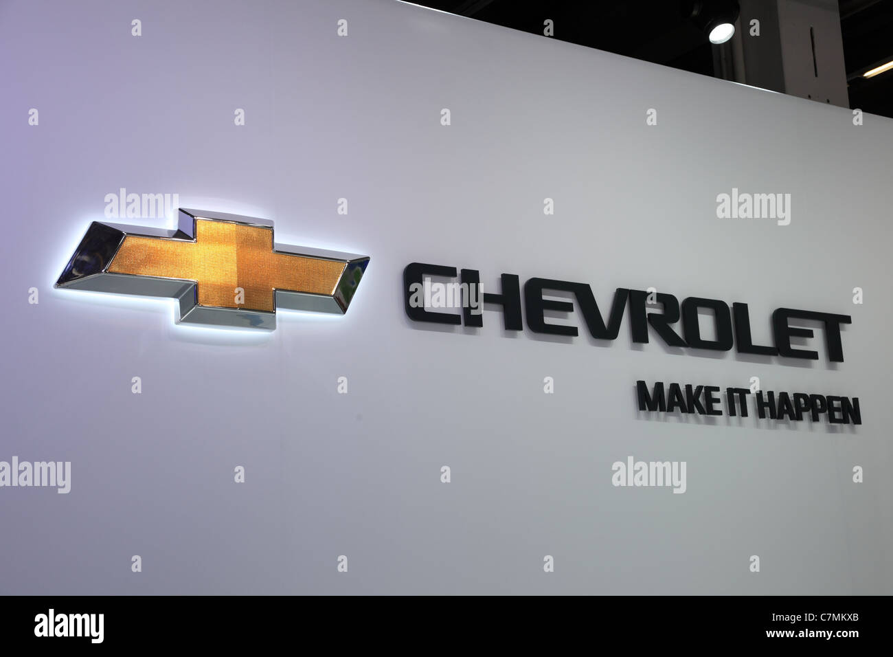 The Chevrolet Company Logo at the 64th IAA (Internationale Automobil Ausstellung) - Stock Image