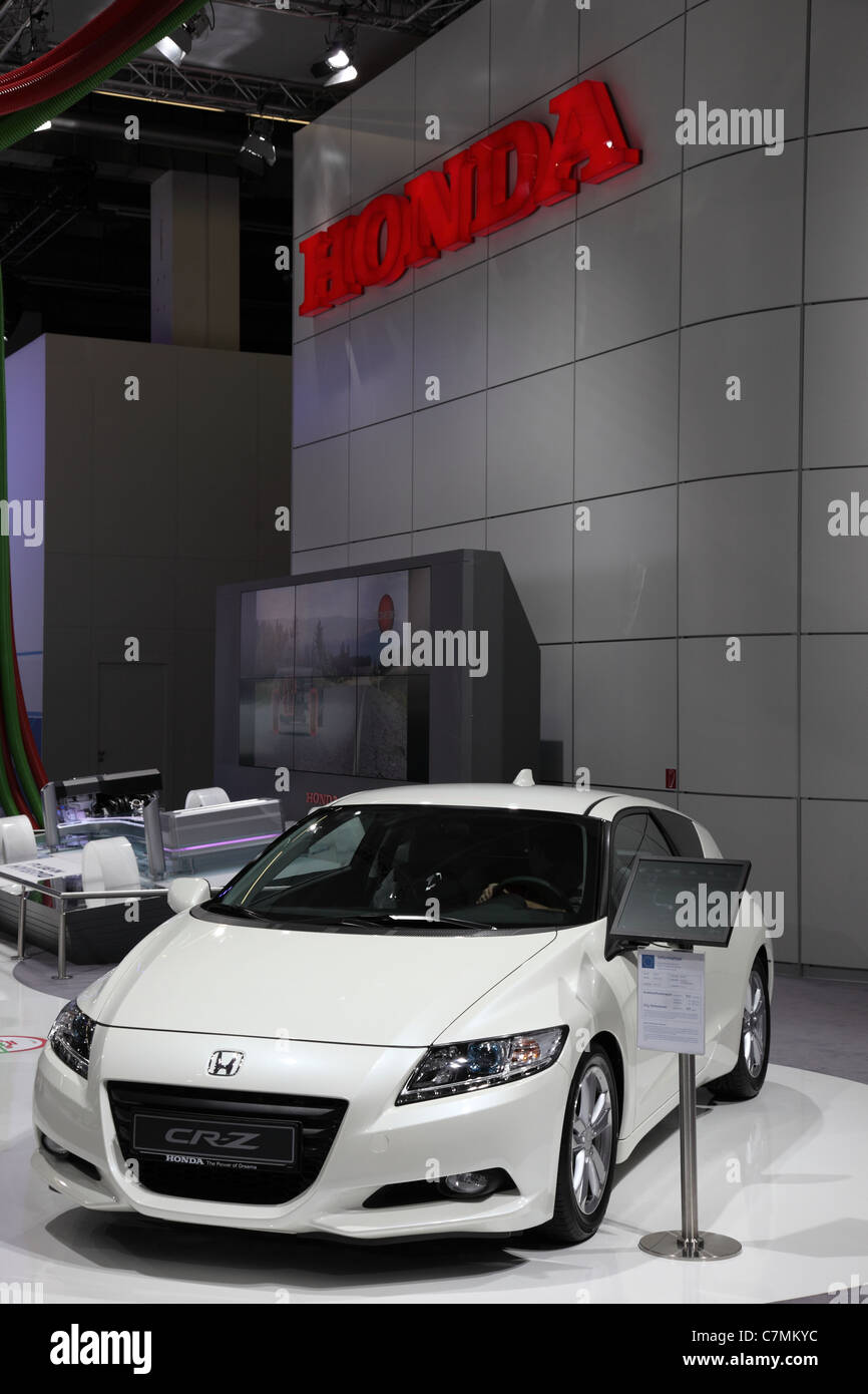 The Honda CR-Z at the 64th IAA (Internationale Automobil Ausstellung) on September 24, 2011 in Frankfurt - Stock Image