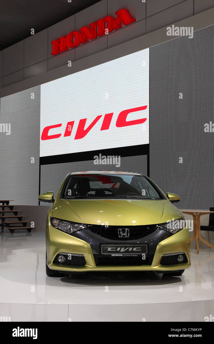 The New Honda Civic at the 64th IAA (Internationale Automobil Ausstellung) on September 24, 2011 in Frankfurt - Stock Image