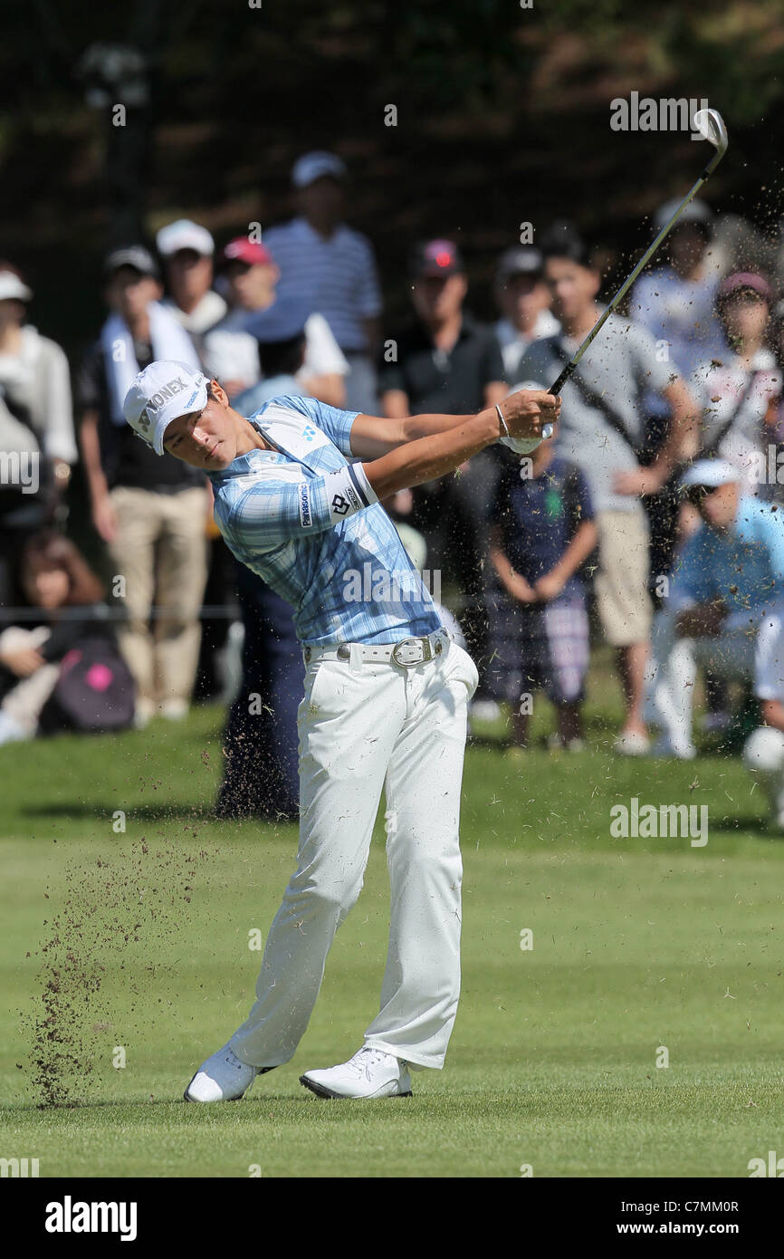 Ryo Ishikawa (JPN) performs during the 2011 Japan Golf Tour Panasonic Open. - Stock Image