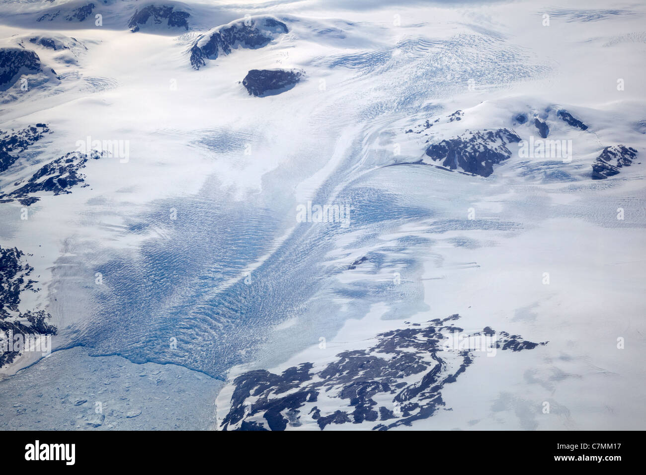 Eastern Greenland Aerial - Stock Image