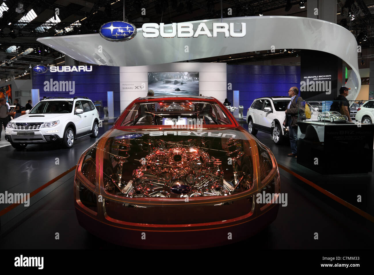 Japanese car manufacturer Subaru at the 64th IAA (Internationale Automobil Ausstellung) - Stock Image
