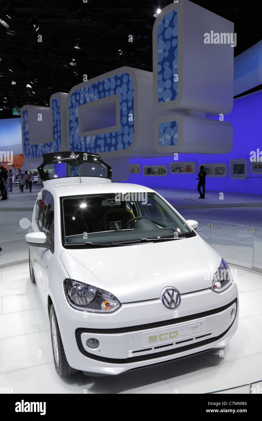 The New VW UP at the 64th IAA (Internationale Automobil Ausstellung) on September 24, 2011 in Frankfurt - Stock Image