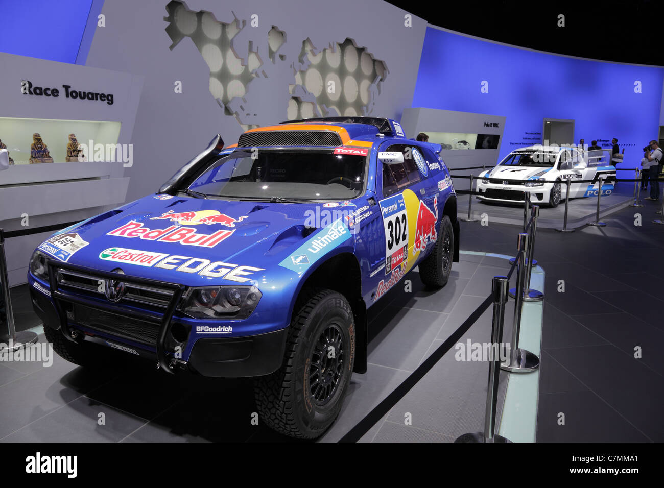 The VW Race Touareg at the 64th IAA (Internationale Automobil Ausstellung) on September 24, 2011 in Frankfurt - Stock Image