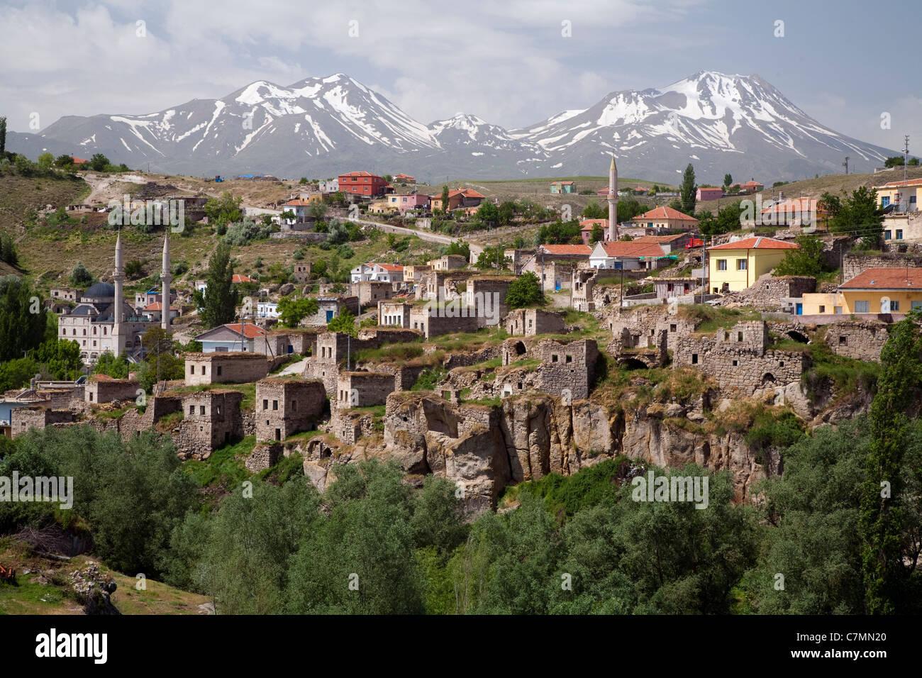 Scenic view of Ihlara town Nevsehir Turkey - Stock Image