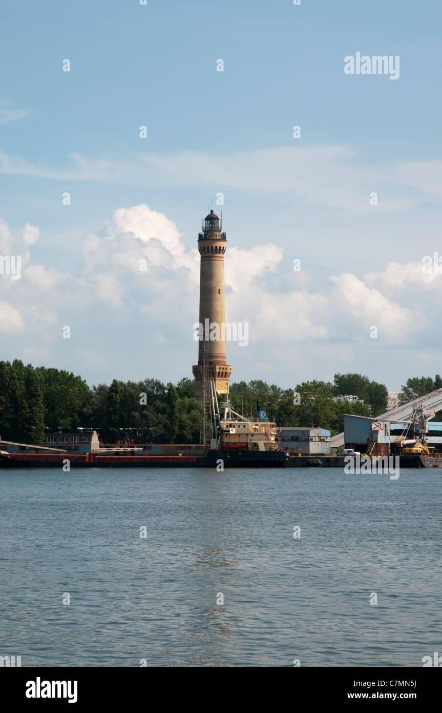 Lighthouse Swinemünde,  Baltic Sea, West Pomerania, Poland, Europe Stock Photo