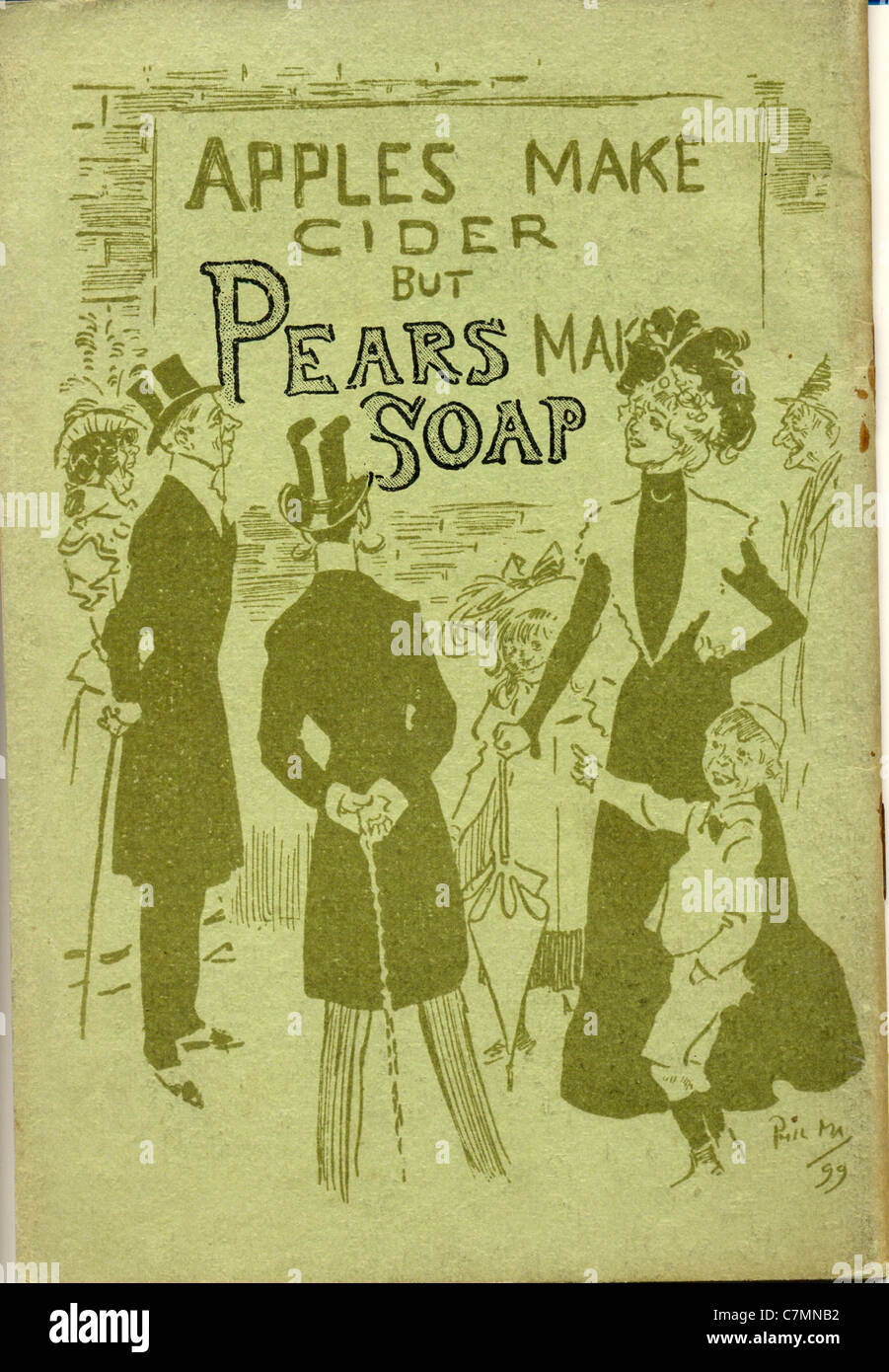 Advertisement for Pears Soap by artist Phil May - Stock Image