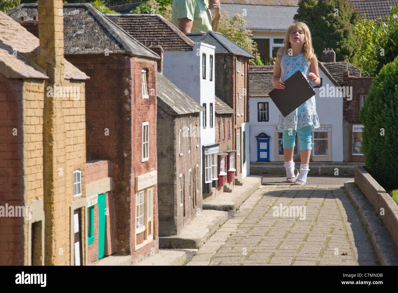 Model village, Wimborne Minster, Dorset - Stock Image