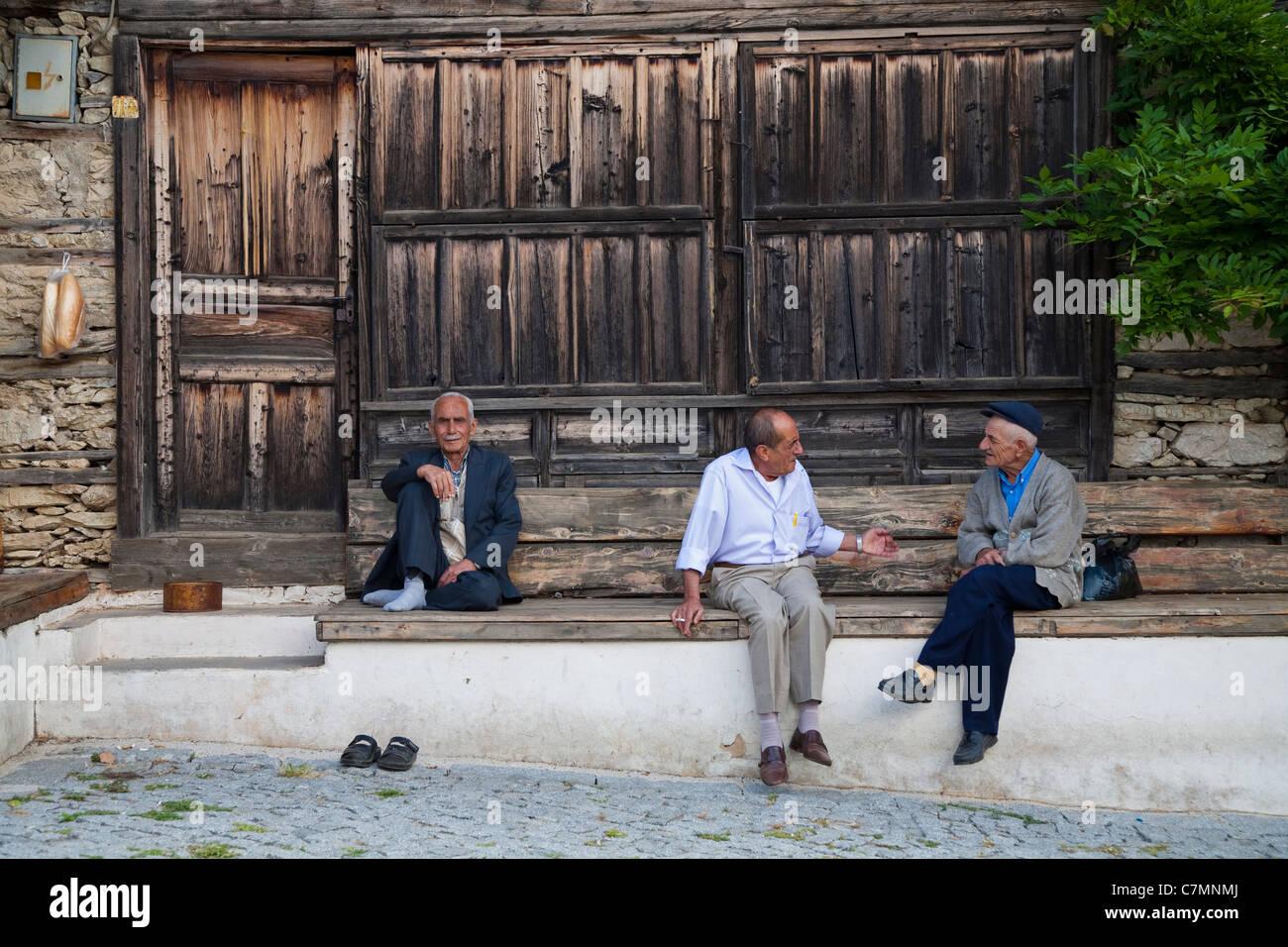 Local people in Urunlu Village Antalya Turkey - Stock Image