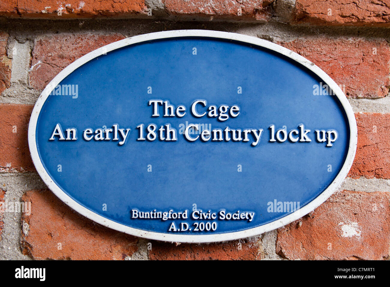 The Old Lock up or Cage Buntingford - Stock Image