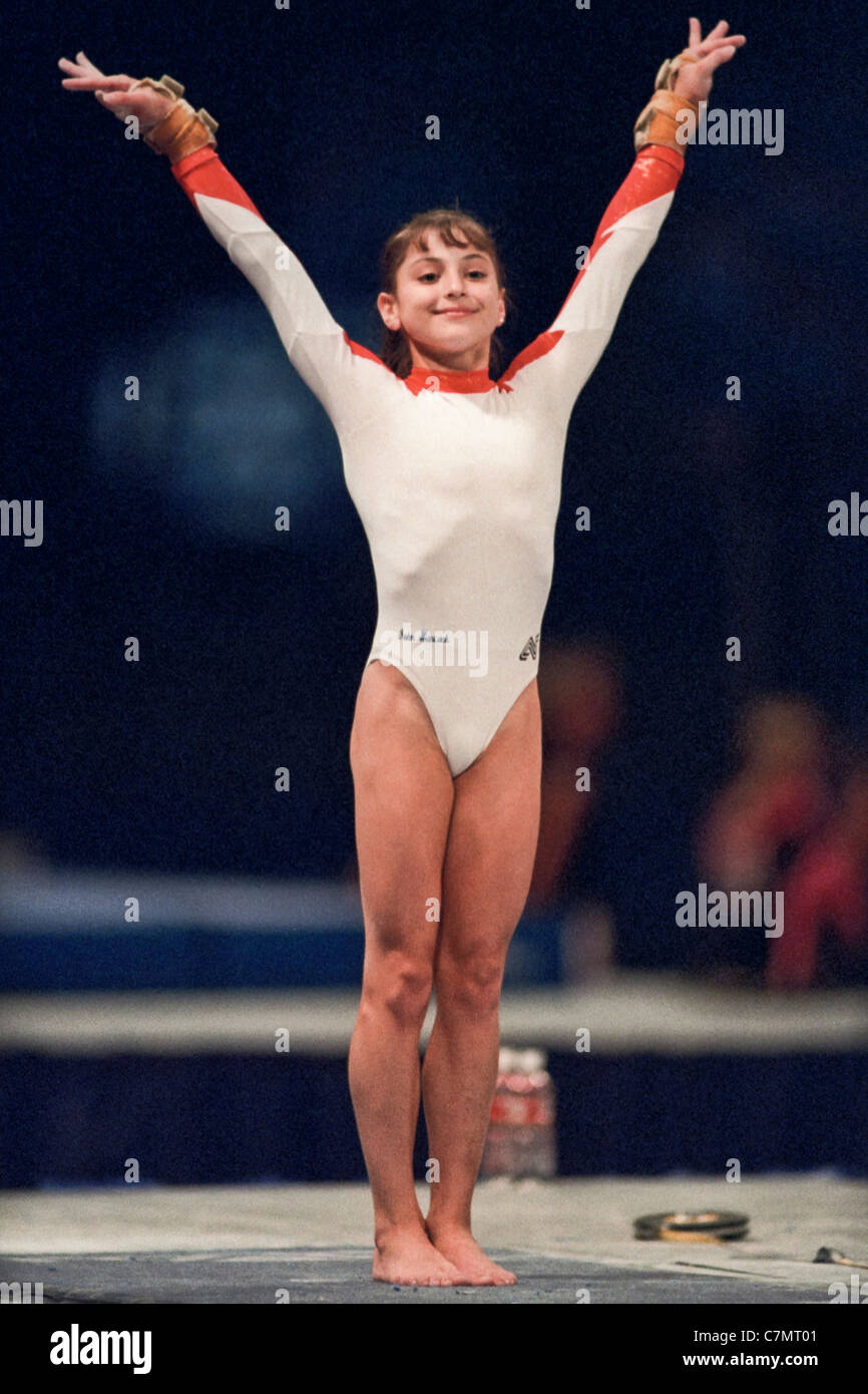 Dominique Moceanu Usa Competing At The 1995 Us National