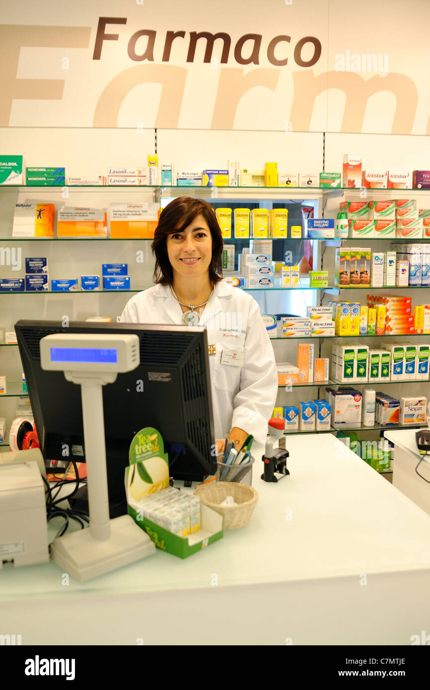 Pharmacy  medicine Doctor (cash desk) - Stock Image