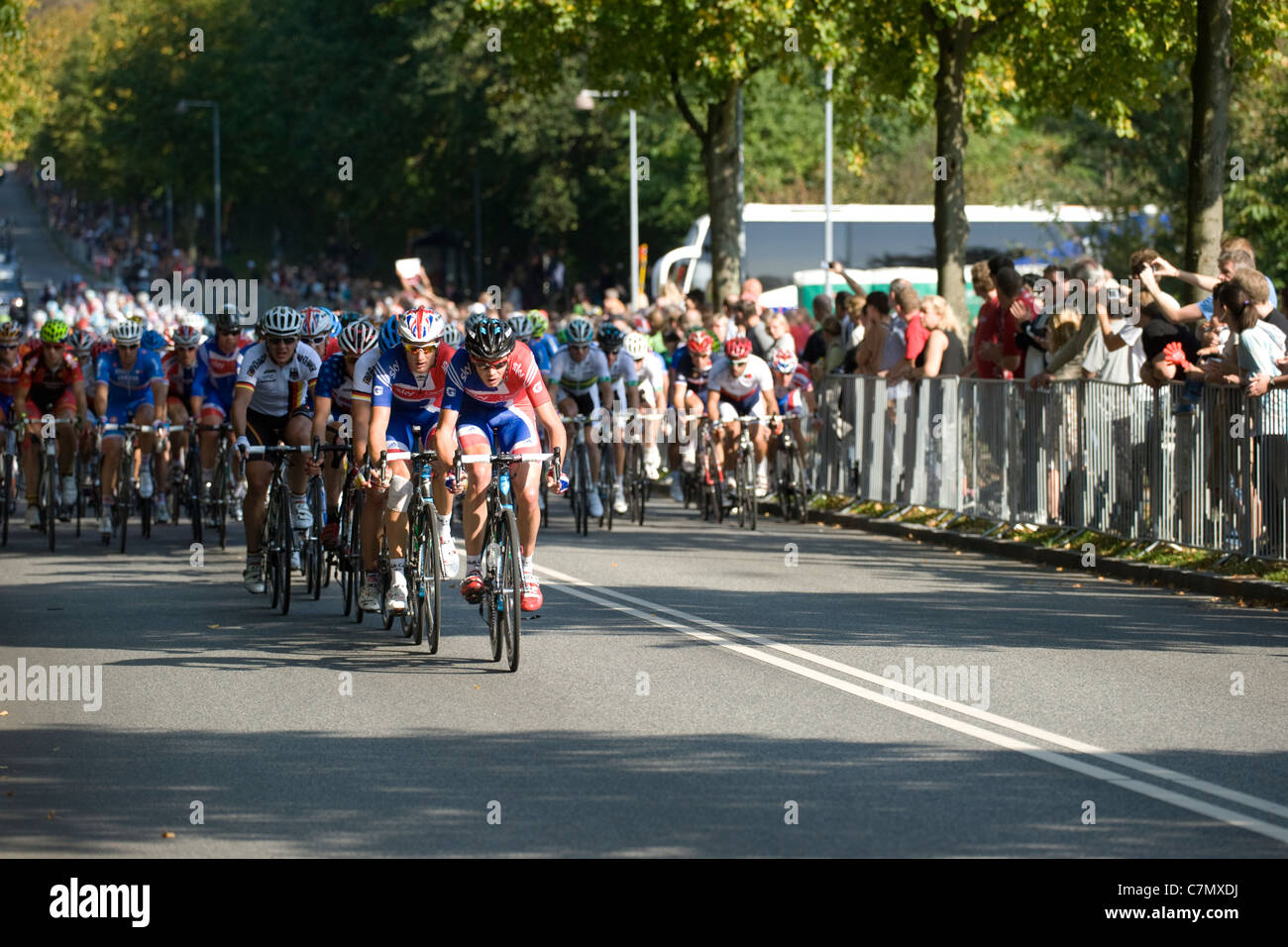 The brittish team in the front during UCI Road World Championships 2011 -  Stock Image 51bb76ed0