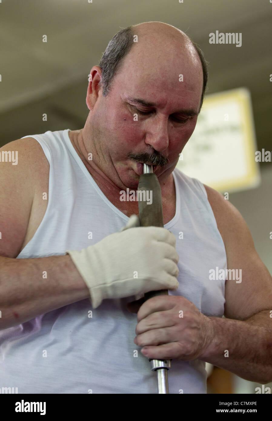Glass blower - Stock Image
