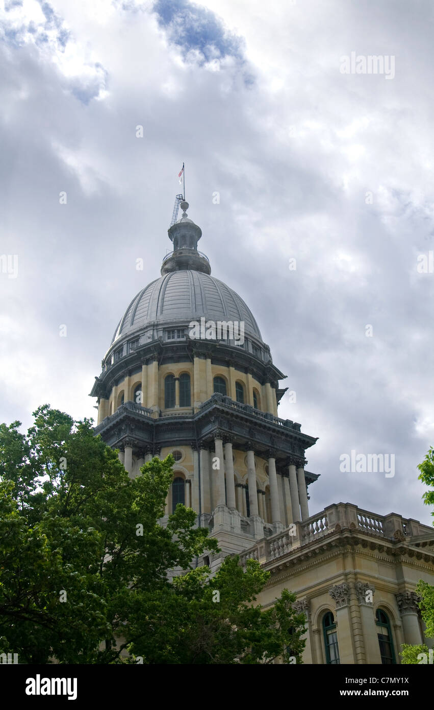 state capitol building in springfield illiinois - Stock Image