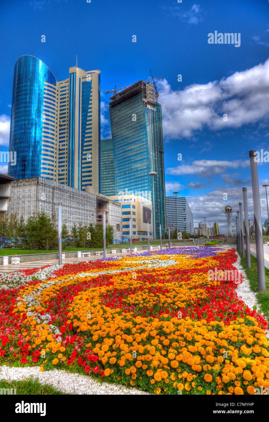 City landscape of Astana, Kazakhstan. HDR image. - Stock Image