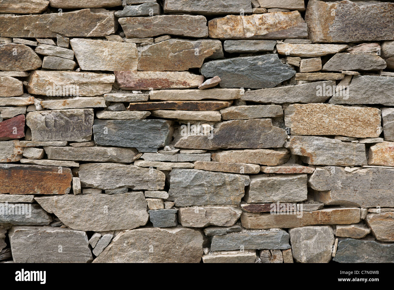Stone wall texture for designers and 3d artists - Stock Image