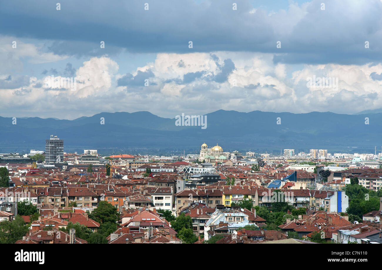 View from Sofia city, capital of Bulgaria - Stock Image