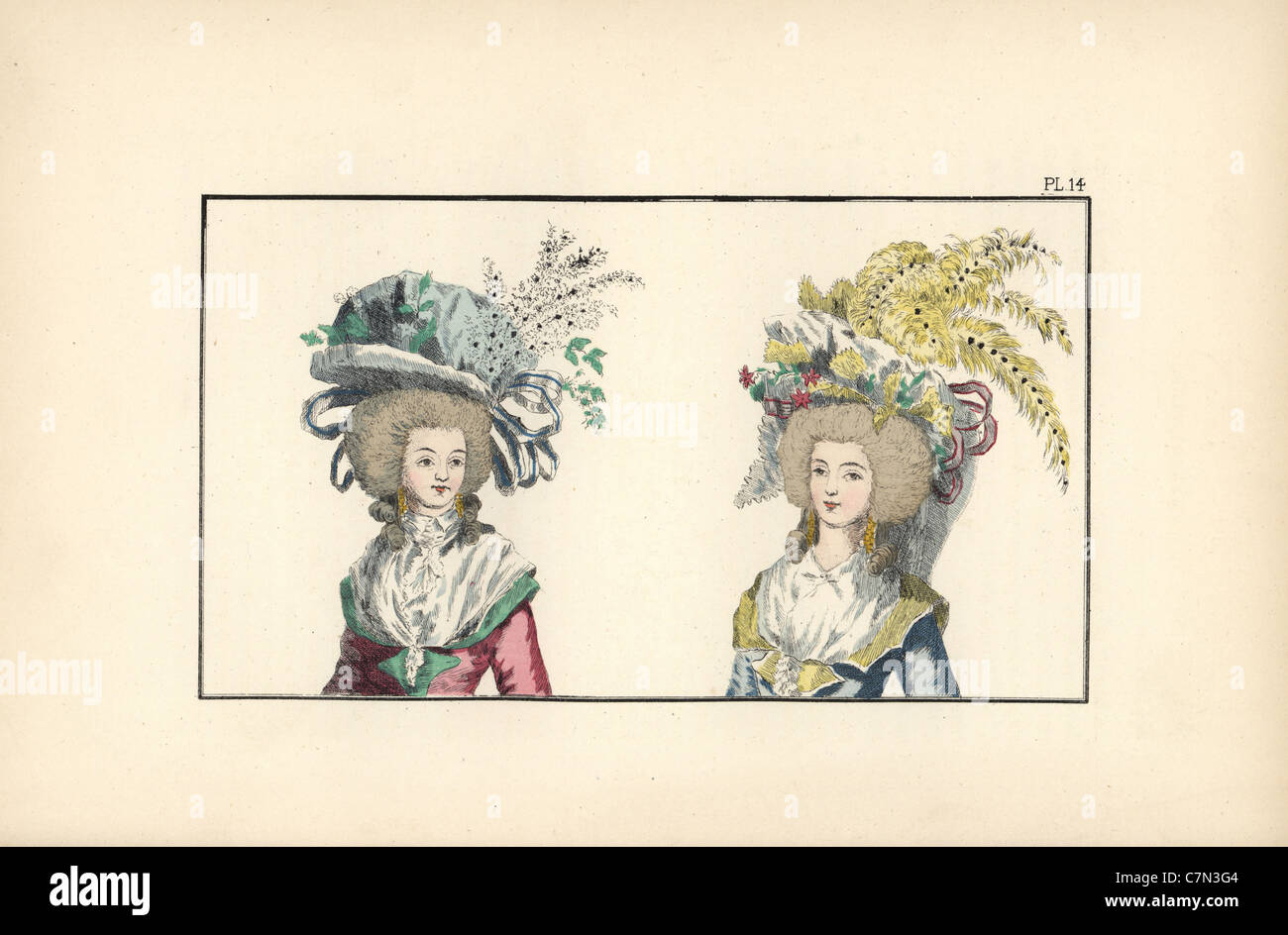 'Prominent citizen' bonnets. - Stock Image