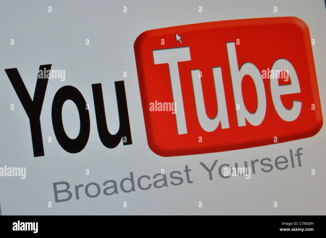 You Tube Broadcast Yourself web screenshot - Stock Image