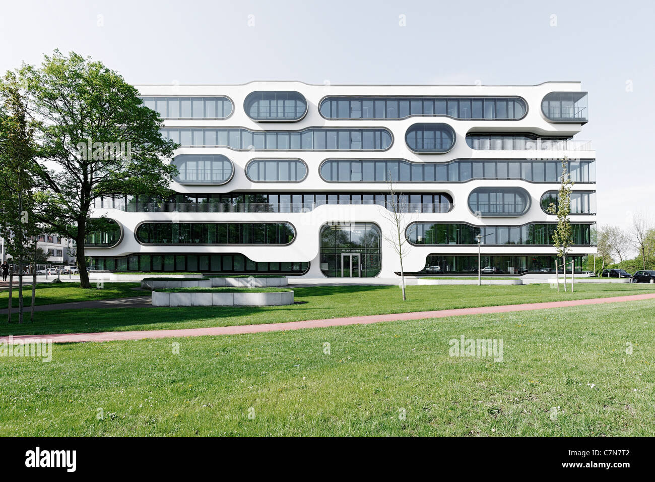 front facade office building modern architecture creative stock