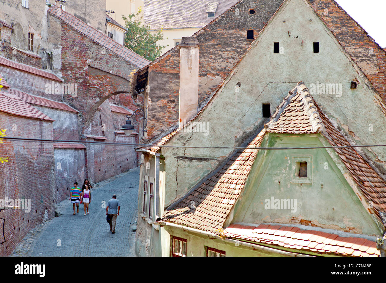 Old Town of Sibiu, Romania - Stock Image