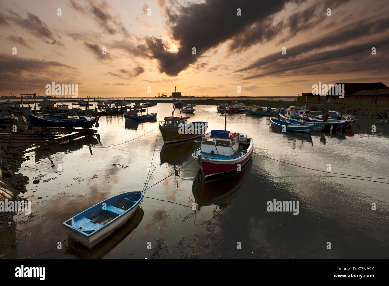 Paddys Hole, South Gare, Redcar and Cleveland - Stock Image