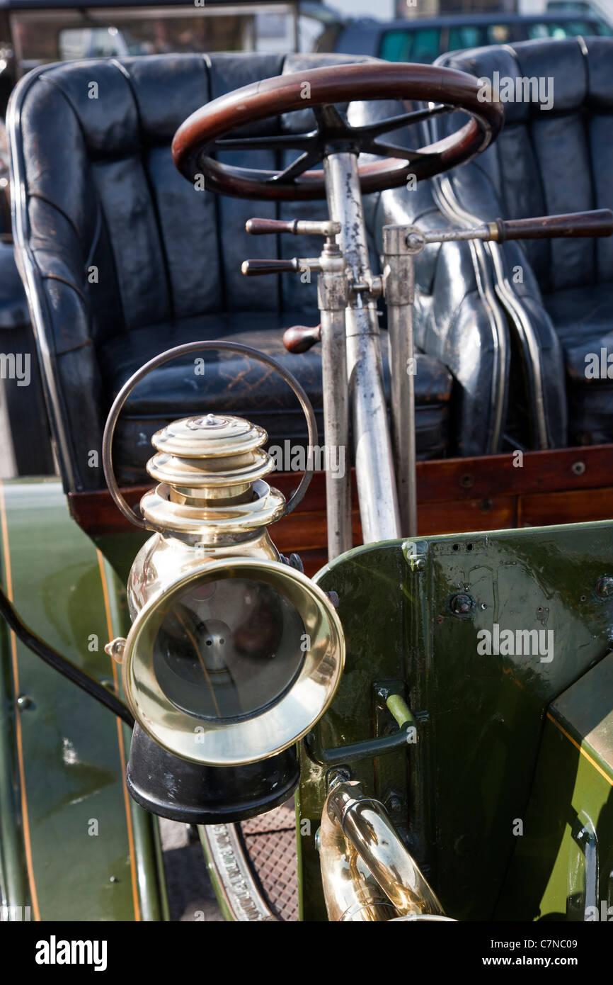 Detail 1903 De Dion Bouton Veteran car - Stock Image