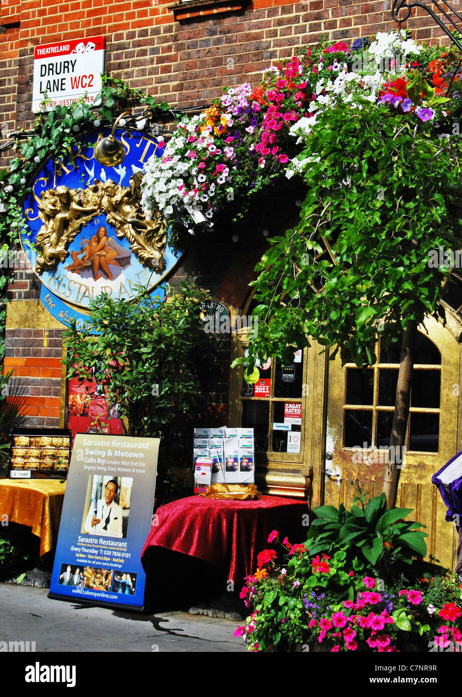 Colorful Exterior Of The Sarastro Restaurant In Drury Lane The Heart Stock Photo Alamy