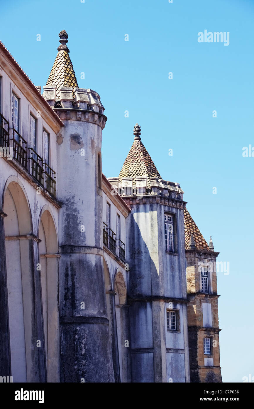 Fragment of building in Coimbra city Stock Photo