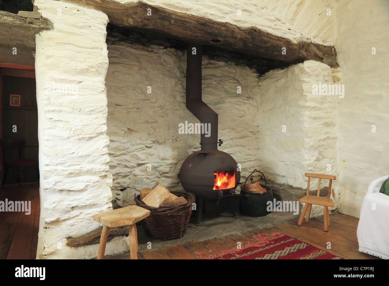 old fireplace fireside fire pot stock photos  old fireplace . a pot bellied stove in a traditional irish fireplace county kerry rep of