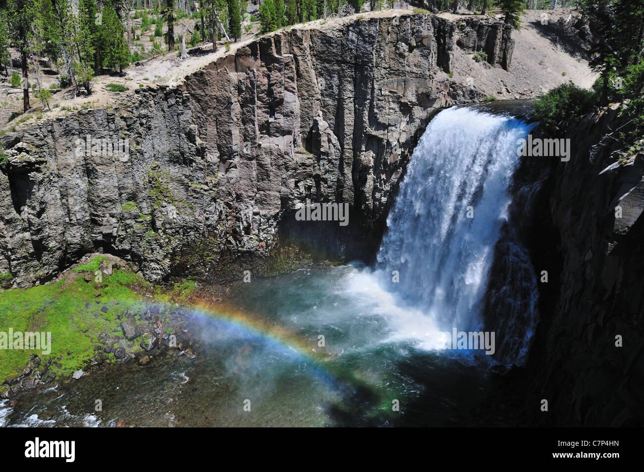 The Rainbow Fall. Devil's Postpile National Monument. California, USA. - Stock Image