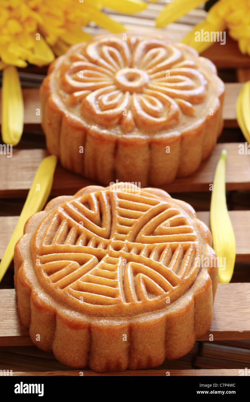 mooncake for Chinese mid autumn festival . - Stock Image
