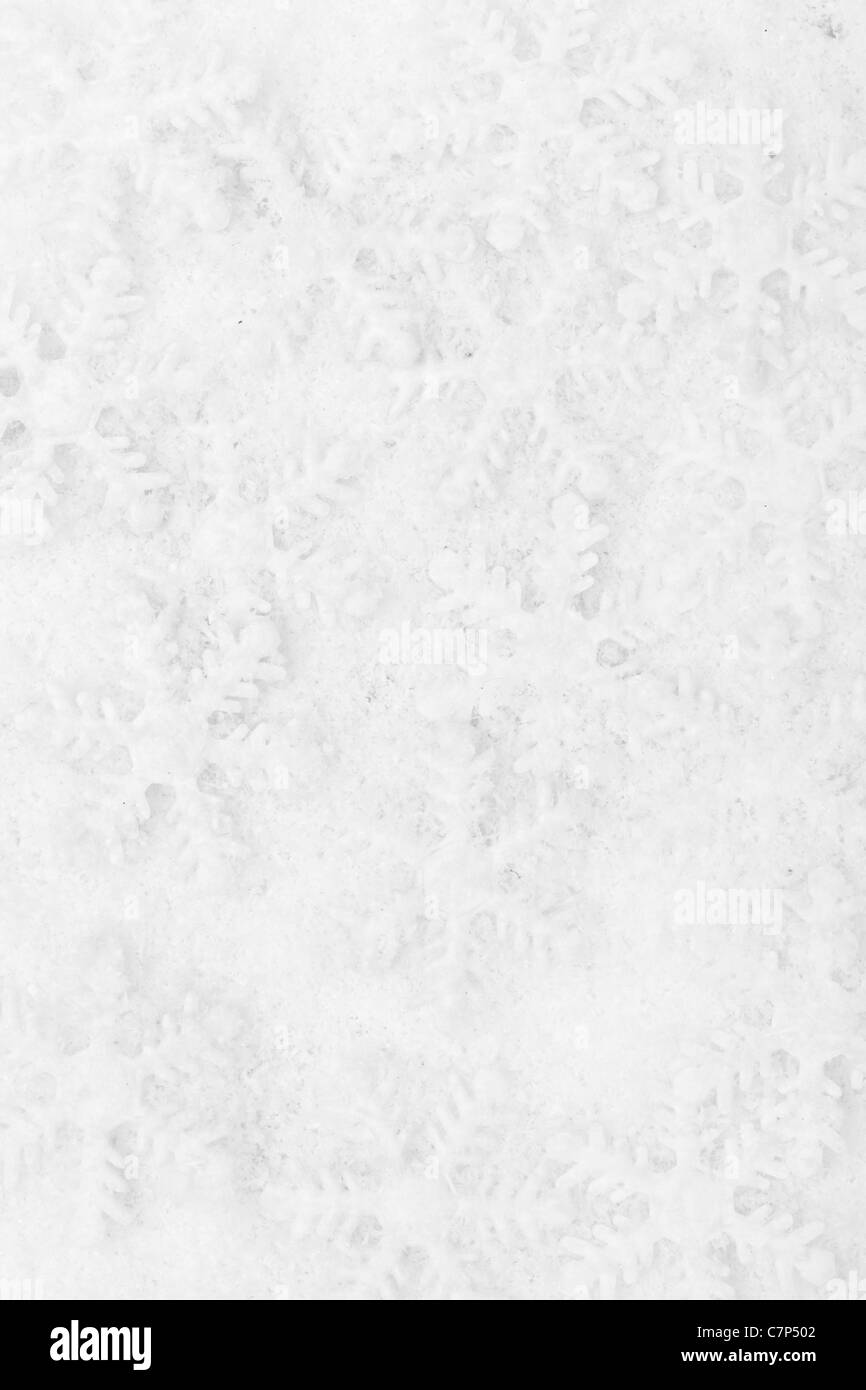 Snowflake decoration, winter holiday background. - Stock Image