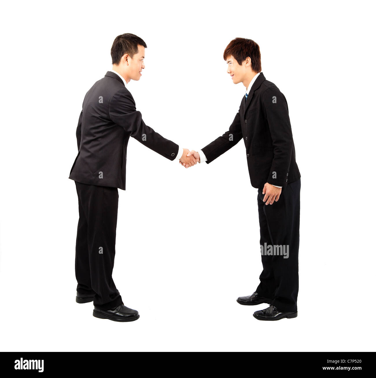 Japanese Business Person Bow Stock Photos Japanese Business Person