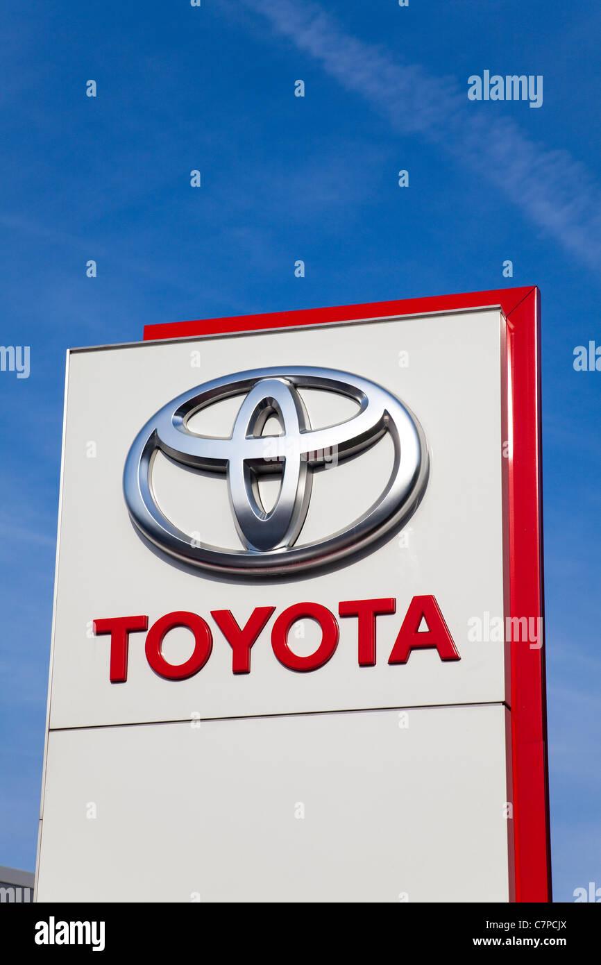Toyota main dealers sign, London, UK - Stock Image