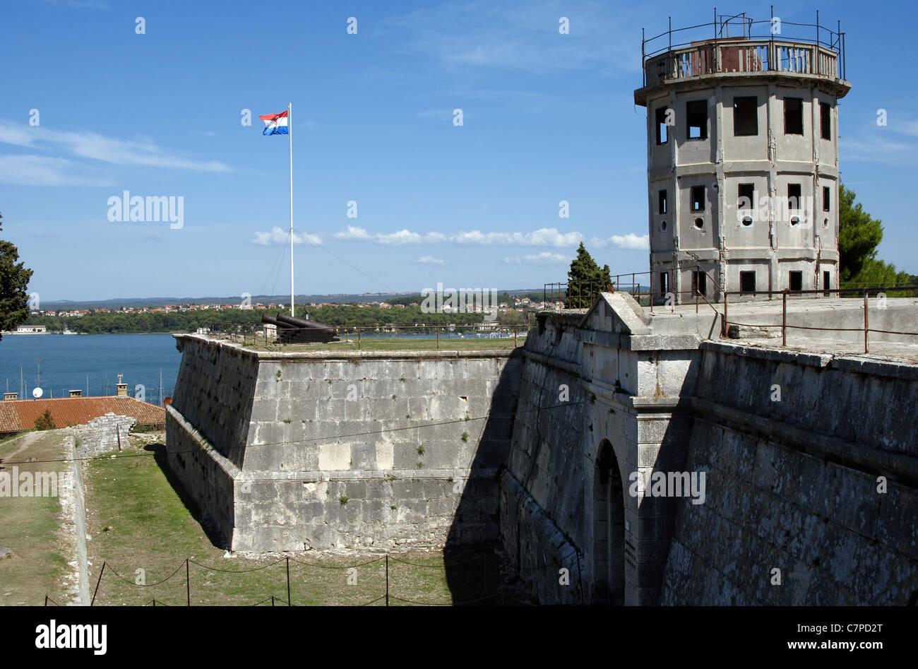 Croatia. Pula. Venetian Citadel. 17th century. - Stock Image