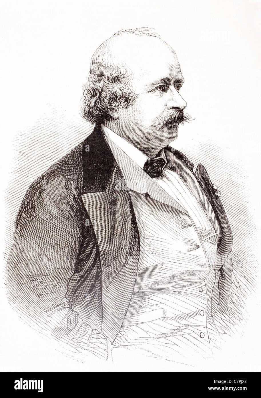 Leonard Sylvain Julien (Jules) Sandeau, 1811 – 1883. French novelist. - Stock Image