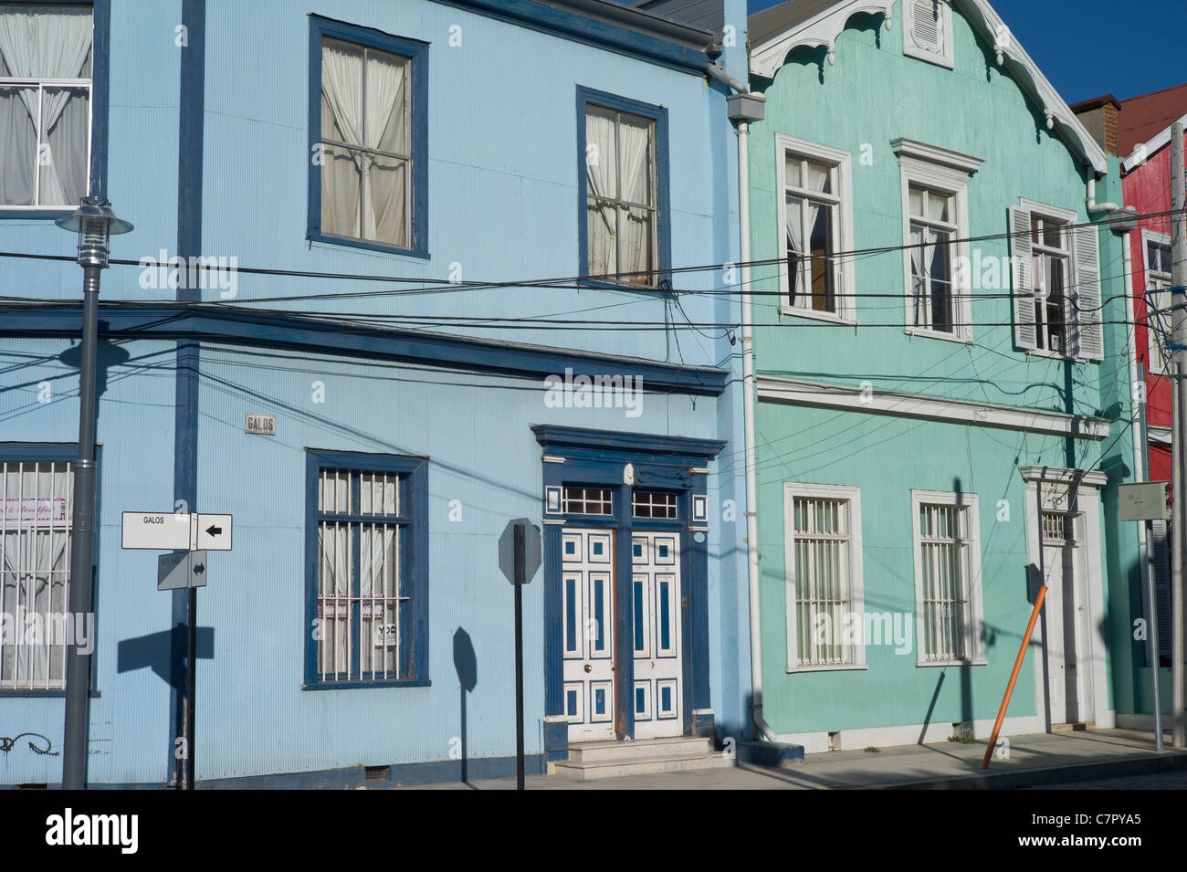 Houses in Valparaiso, Chile, South America - Stock Image