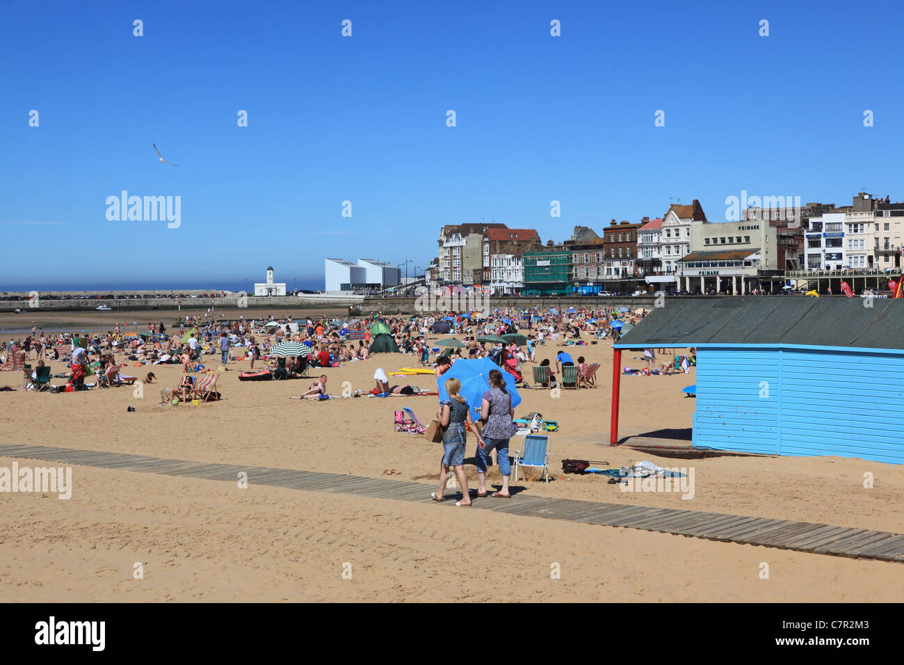 Beach at Margate, Kent, East of England, UK - Stock Image