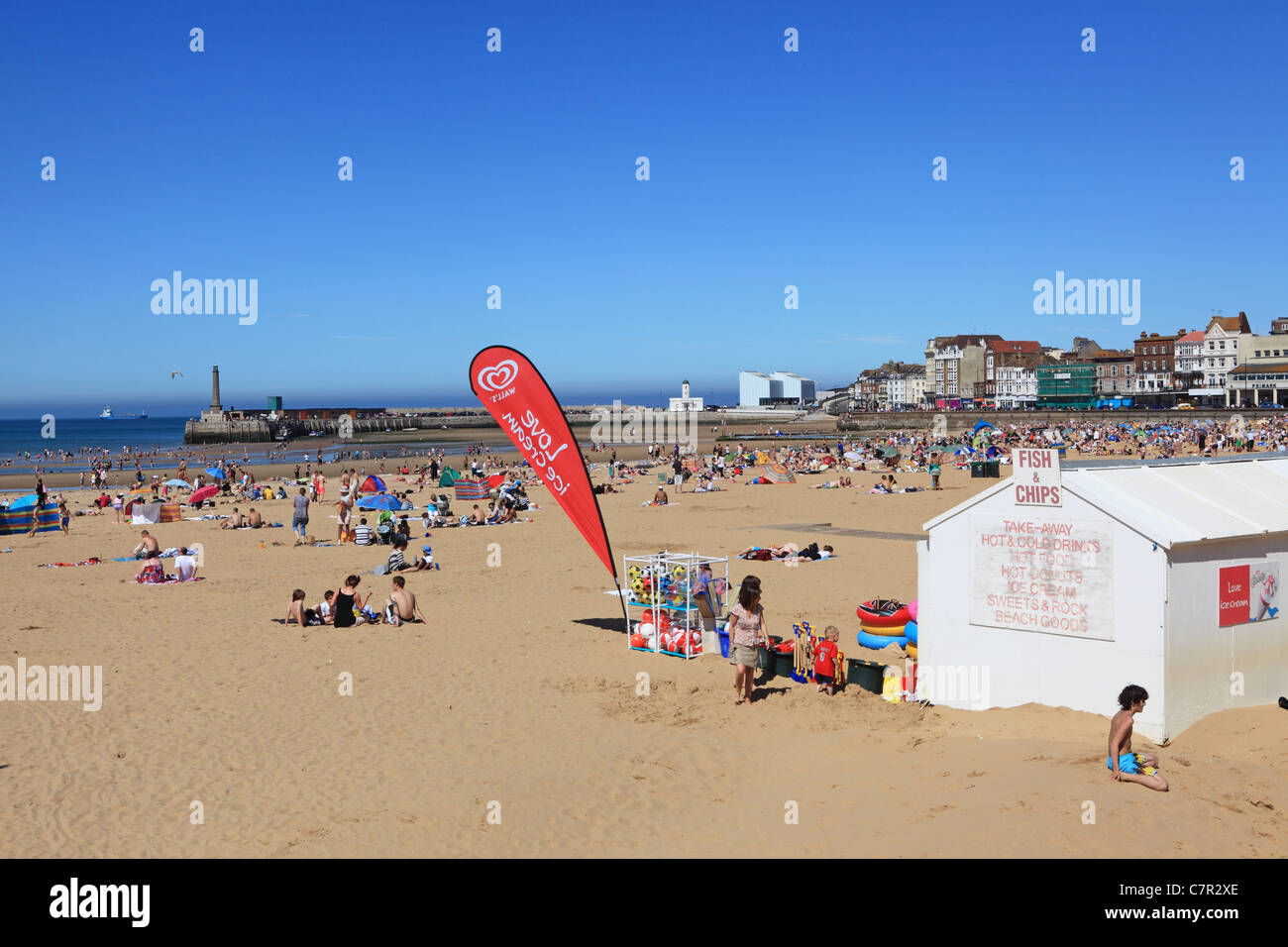 The beach at Margate, Kent, England, in the summertime - Stock Image