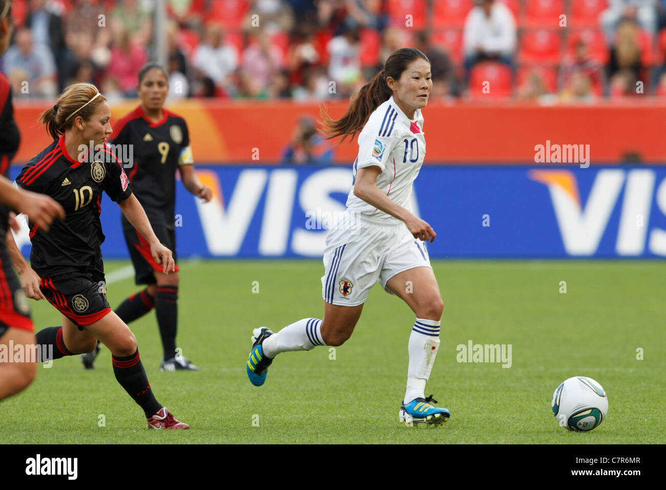 Japan team captain Homare Sawa attacks against Mexico during a FIFA Women's World Cup Group B match July 1, - Stock Image