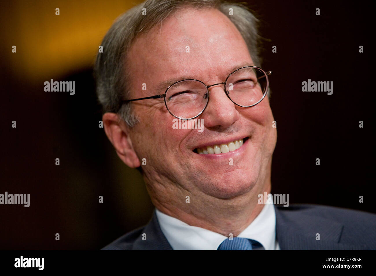 Former Google CEO and current Executive Chairman Eric Schmidt. - Stock Image