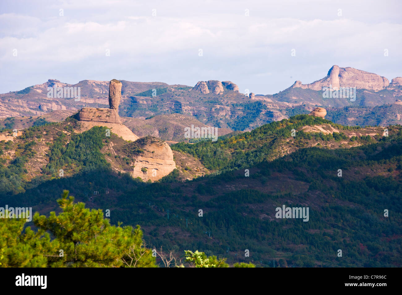 Bangchui (Wood Club) Mountain, Chengde, Hebei Province, China - Stock Image