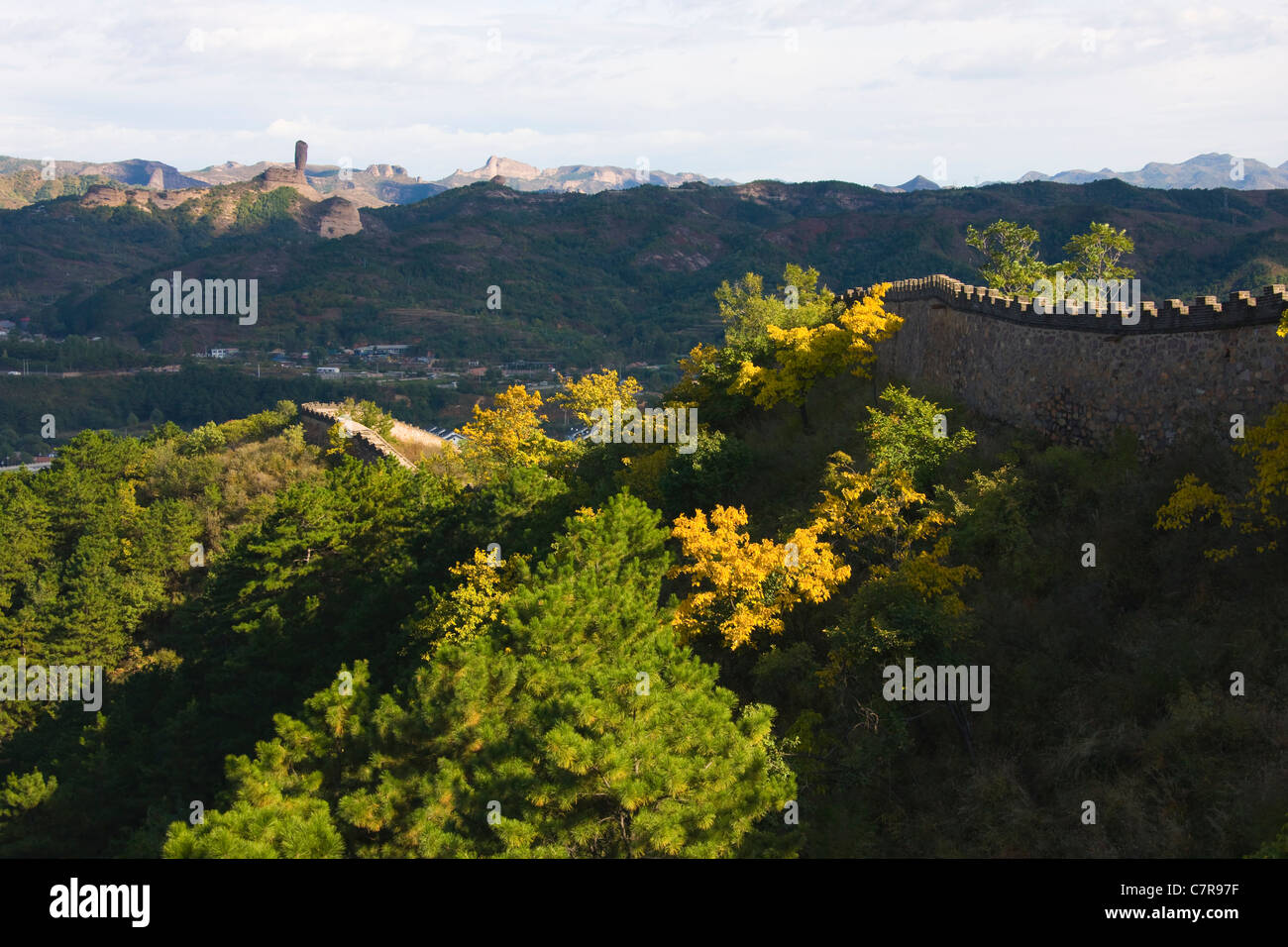 Walls of Chengde Mountain Resort and its Outlying Temples, Hebei Province, China - Stock Image
