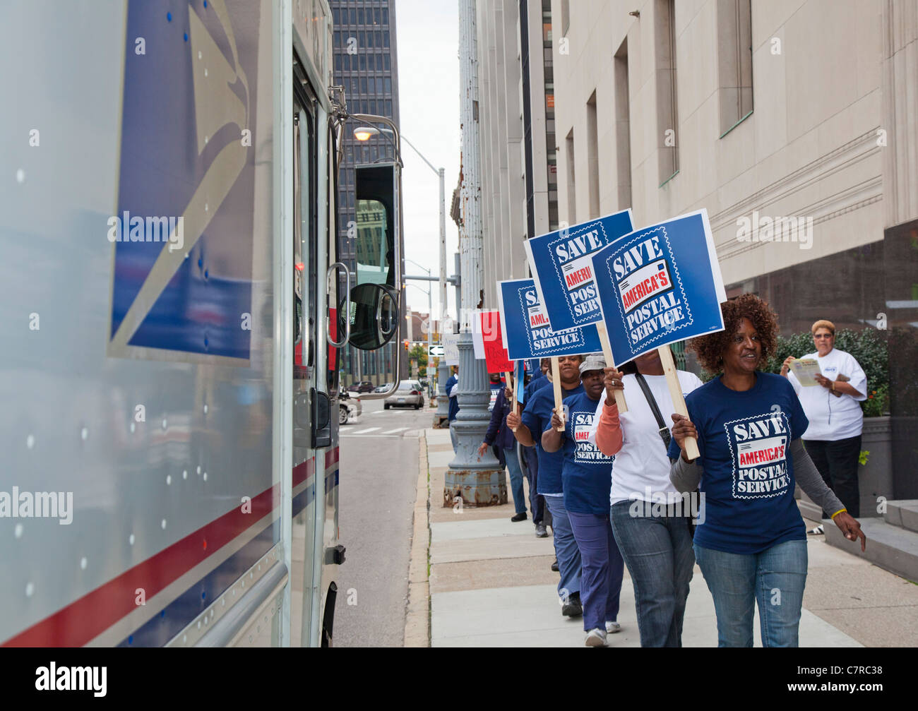 Postal Workers Rally to Save Six-Day Mail Delivery Stock Photo