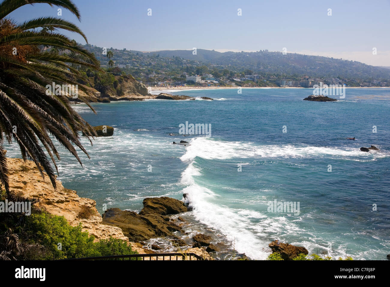 Laguna Beach viewed from Heisler Park Stock Photo