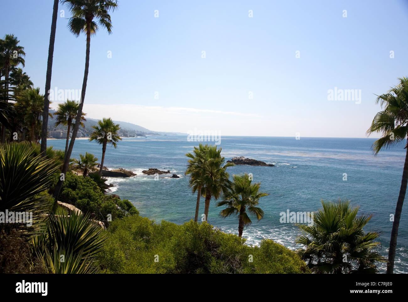 Laguna Beach viewed from Heisler Park Stock Photo
