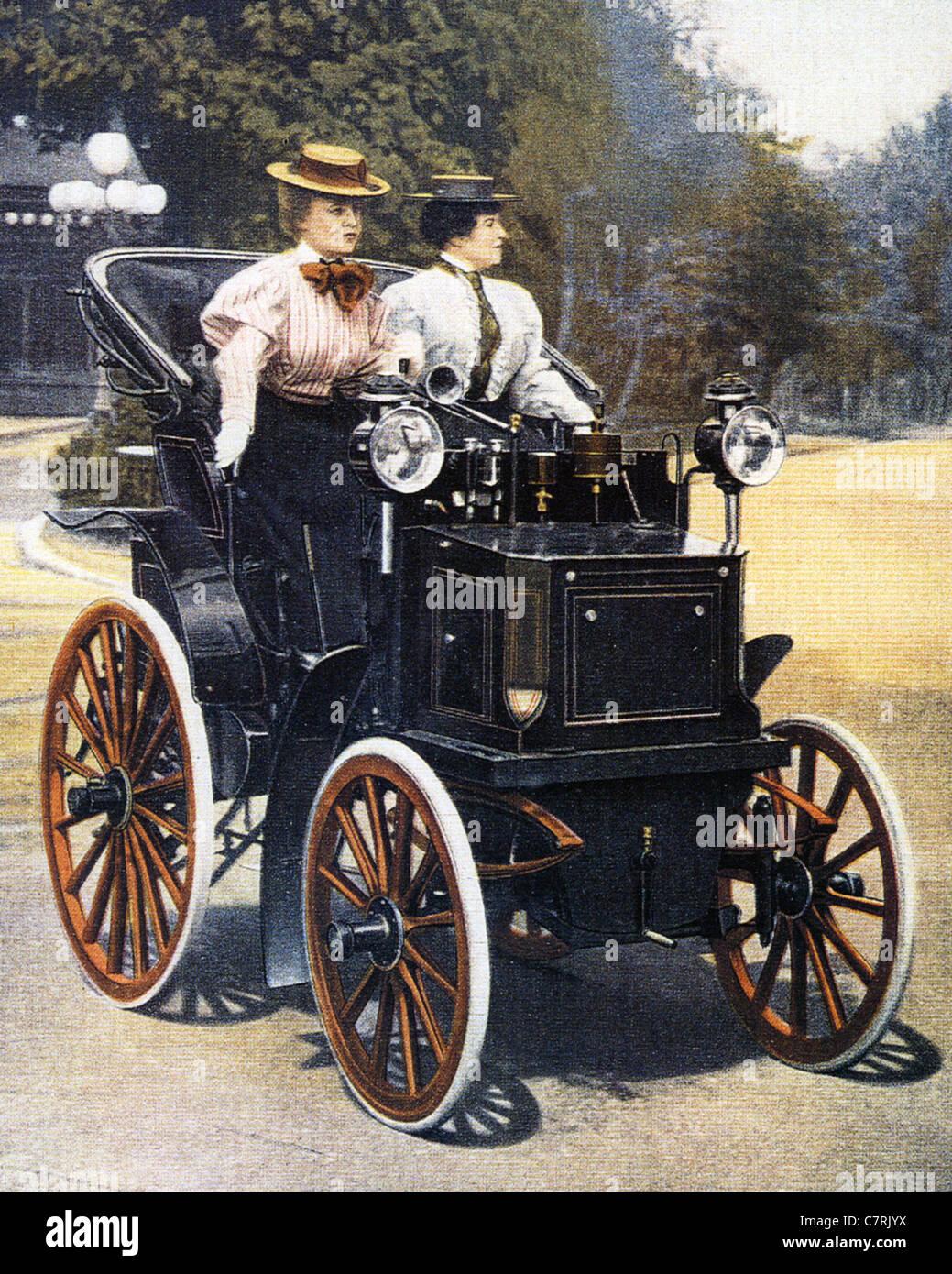 PANHARD ET LEVASSOR Daimler Motor Carriage in 1894 - Stock Image